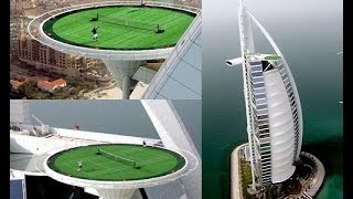 The Highest Tennis Court In The World / Tennis In The Sky / Burj Al Arab