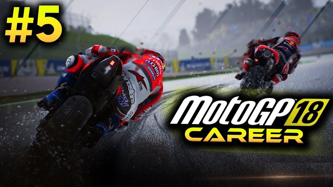 Motogp 18 Career Mode Part 5 New Team First Race Motogp 2018