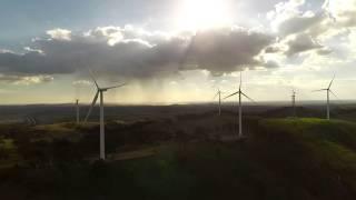Dji Phantom3 professional aerial footage of Gunning Windfarm NSW