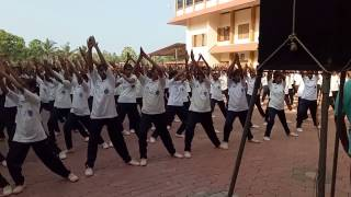 Anjali Jaindhan's Cool down session with Student Police Cadet of Kerala