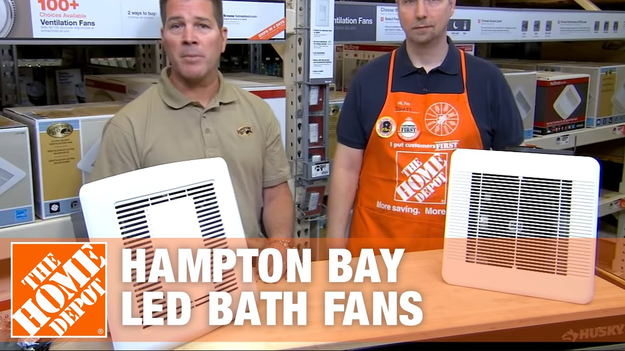 Bathroom Lighted Exhaust Fans hampton bay led bath fans - youtube