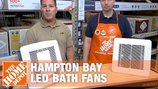 Hampton Bay LED Bath Fans | The Home Depot