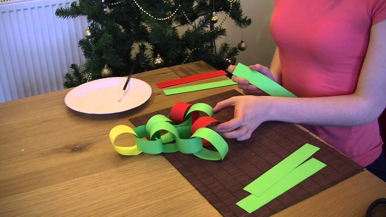 How to: make a paper chain Christmas tree - YouTube