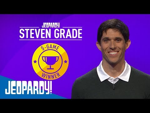 Steven Grade Is a 5-Game Winner! | JEOPARDY!