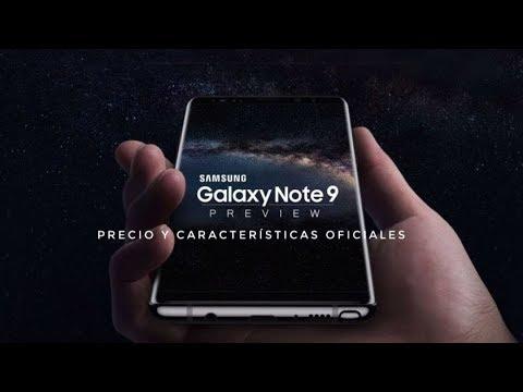 Samsung Galaxy Note 9 Vídeo Oficial - Precio y características Oficiales
