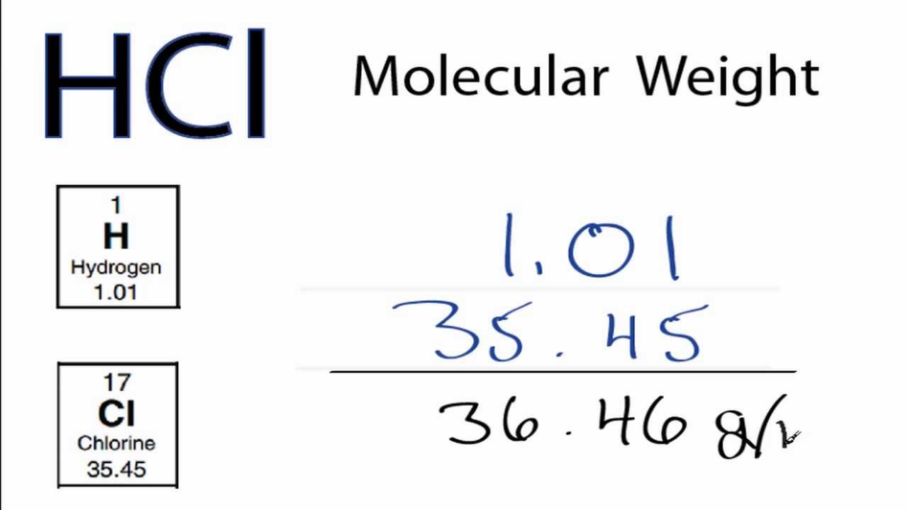 HCl Molecular Weight: How to find the Molar Mass of HCl
