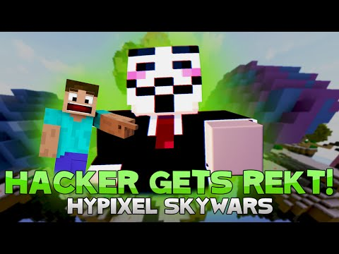 BEST SKYWARS HACKER EVER GETS REKT?! ( Hypixel MEGA Skywars )