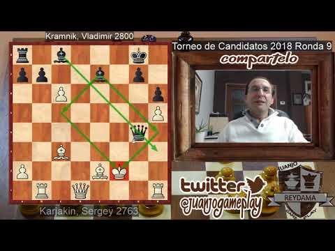 Partida muy LOCA y BELLA Karjakin VS Kramnik | Torneo de Candidatos 2018 (Ronda 9)