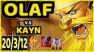 BROXAH (OLAF) vs KAYN - 20/3/12 KDA JUNGLE CHALLENGER GAMEPLAY - EUW