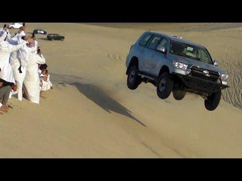 Sand Dune Jumping in Qatar - تطعيس + تطير في العديد 29/02/2016 thumbnail