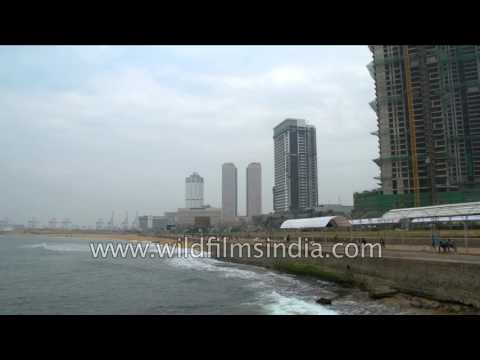 Colombo on the Indian Ocean: Galadari Hotel and other buildings in Sri Lanka