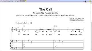 The Call by Regina Spektor - Piano Sheet Music:Teaser