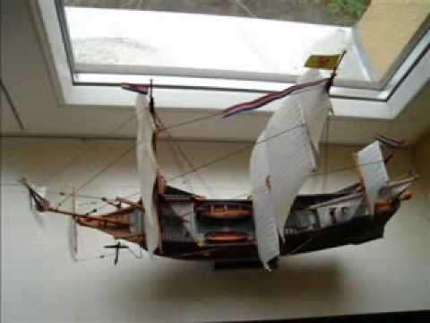 Building of Batavia ship model.