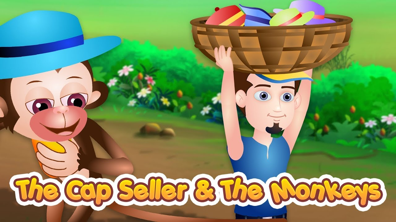 The Cap Seller and The Monkeys Story | Stories For Kids | Bedtime Stories  For Children | TinyDreams