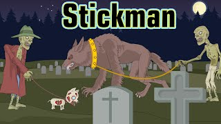 Stickman mentalist. Zombie and his friends