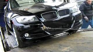 towing recovery auto transport ramps fail unloading a 2012 bmw