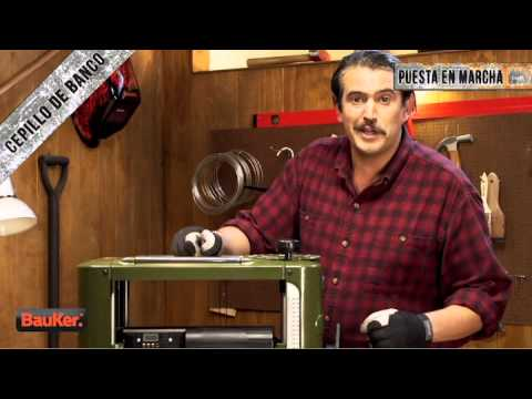 Cepillo el ctrico de banco bauker youtube - Cepillo madera electrico ...