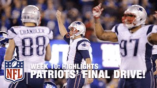 Patriots Game-Winning Drive (Week 10) | Patriots vs. Giants | NFL