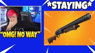 Ninja Reacts To The PUMP SHOTGUN STAYING (NOT GETTING VAULTED) IN Fortnite