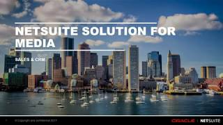 NetSuite for Media Companies - Sales & CRM