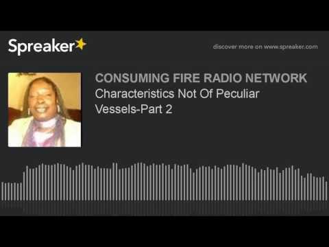 Characteristics Not Of Peculiar Vessels-Part 2