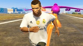 Cristiano Ronaldo Crazy Speed! The Flash Power (GTA 5 PC Mods Gameplay Compilation)