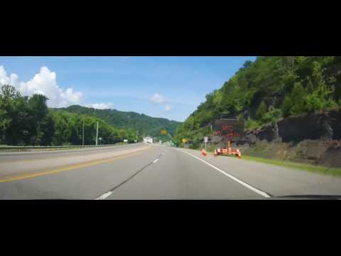 Driving through Pikeville, Kentucky on US 23