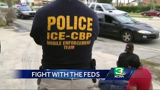 How far can resisting ICE go before feds push back