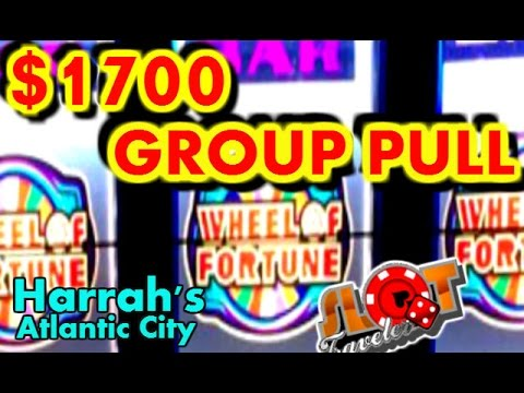**$1700 HIGH LIMIT GROUP PULL** | HARRAH'S ATLANTIC CITY | SlotTraveler