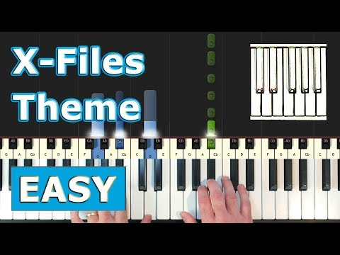 X-Files Theme (Illuminati Song) - Piano Tutorial EASY - Sheet Music (Synthesia) thumbnail