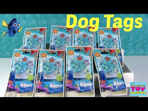 Finding Dory Dog Tags Series 1 Disney Pixar Blind Bag Fun | PSToyReviews