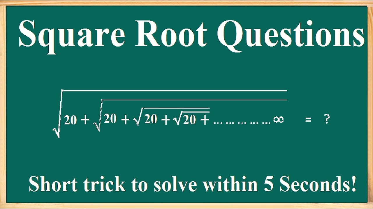 Image result for square root short trick