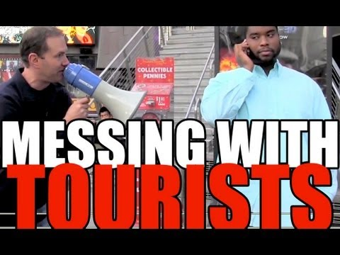 MESSING WITH TOURISTS on Hollywood Blvd