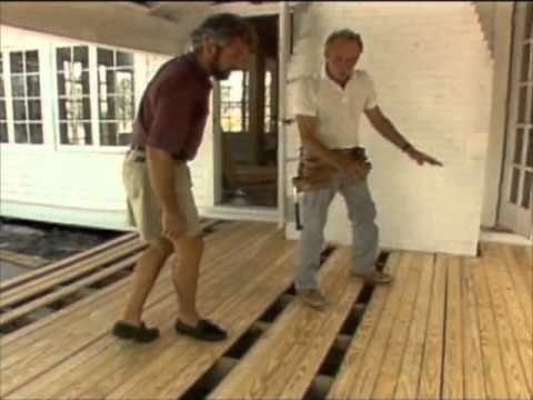 Building A Floating Deck Bob Vila Youtube
