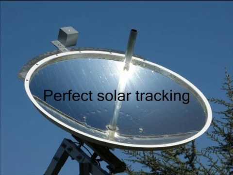 parabolic dish solar concentrator