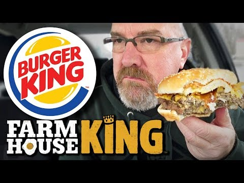 "FARMHOUSE KING™ Sandwich from Burger King ""WORST THING ON THE MENU"""
