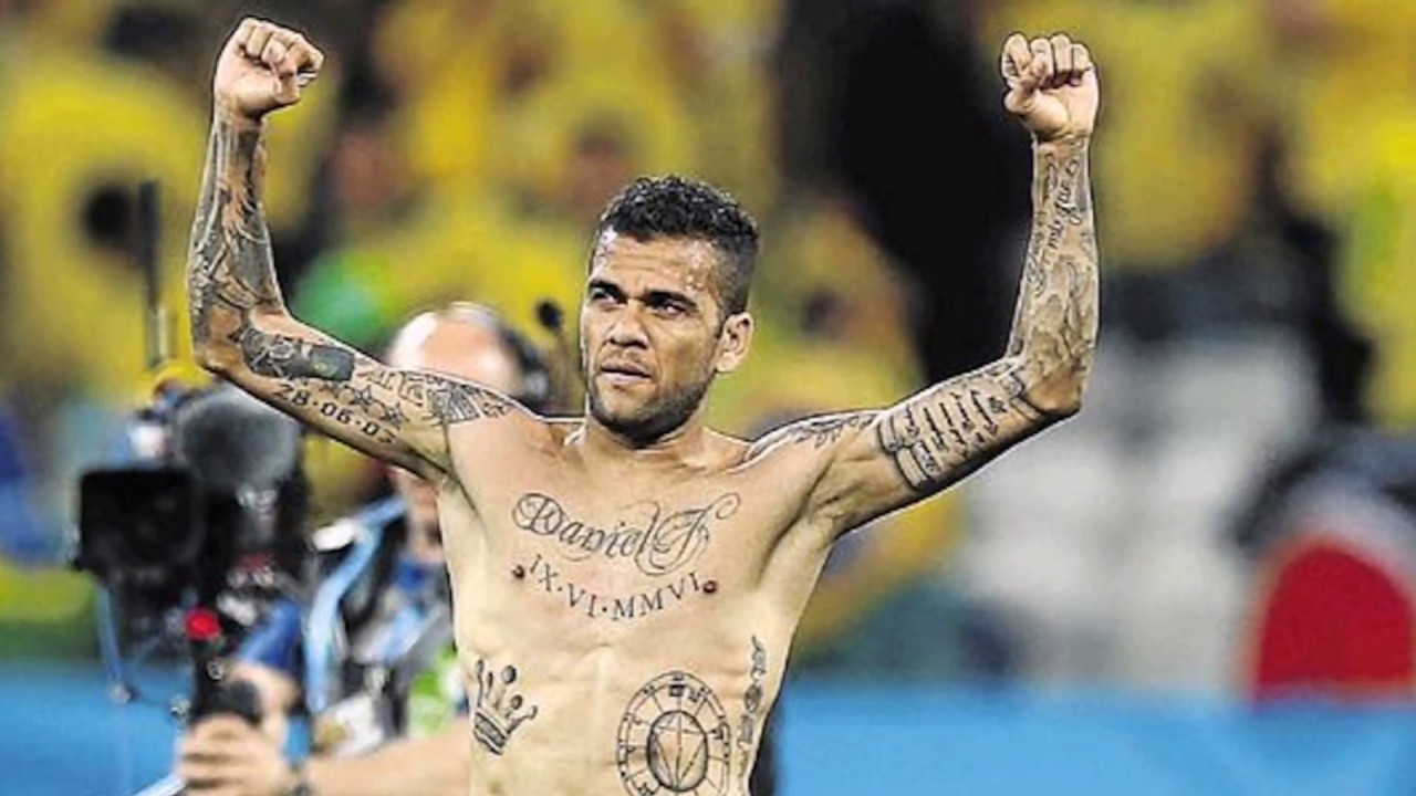 DANI ALVES TATTOOS AND ITS MEANINGS - YouTube