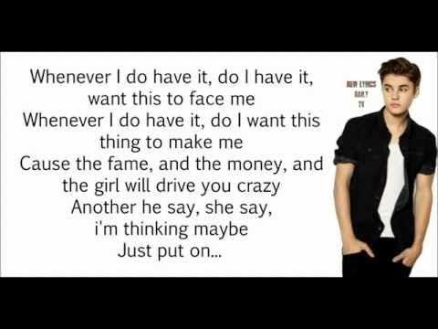 Justin Bieber - Yellow Raincoat (LYRICS) (NEW SONG 2013)