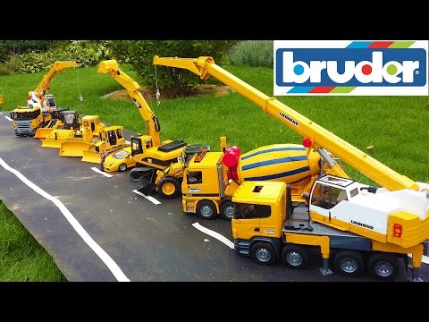 BRUDER TOYS BEST OF 2016 - trucks, tractors, excavators for