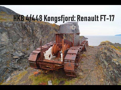 Французский танк Renault FT-17, немецкая береговая батарея HKB 4/448 Kongsfjord