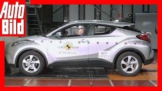 Euro NCAP unterzieht dem Toyota C-HR einigen Crashtests - und der C...