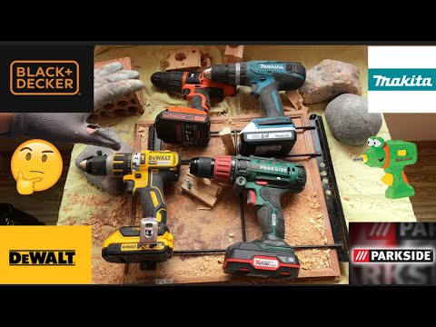 Comparativa TALADROS Dewalt Makita Parkside Black and decker ¿cuál compro?