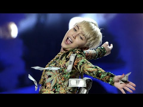 Miley Cyrus Puts Fan's Thong In Her Mouth