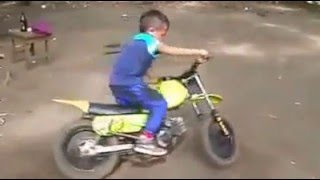 child showing stunts on his own mini motocross latest videos of 2016