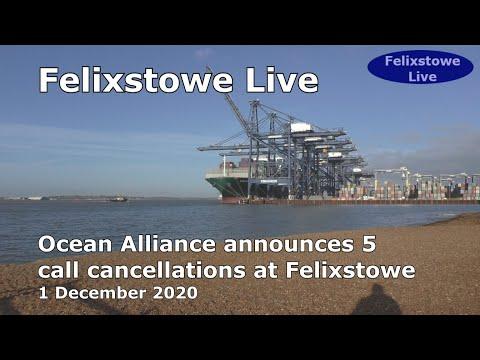 Ocean Alliance cancels 5 ship calls at Felixstowe; 1 December  2020