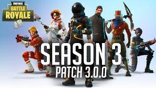 ¿Qué hay de nuevo en la Temporada 3 y el Parche 3.0.0? Fortnite Battle Royale en inglés