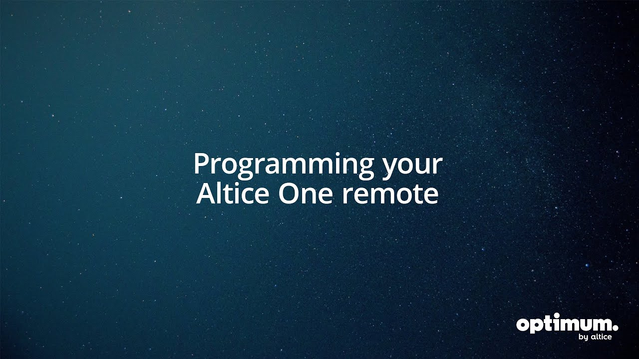 Altice One: Programming Your Altice One Remote