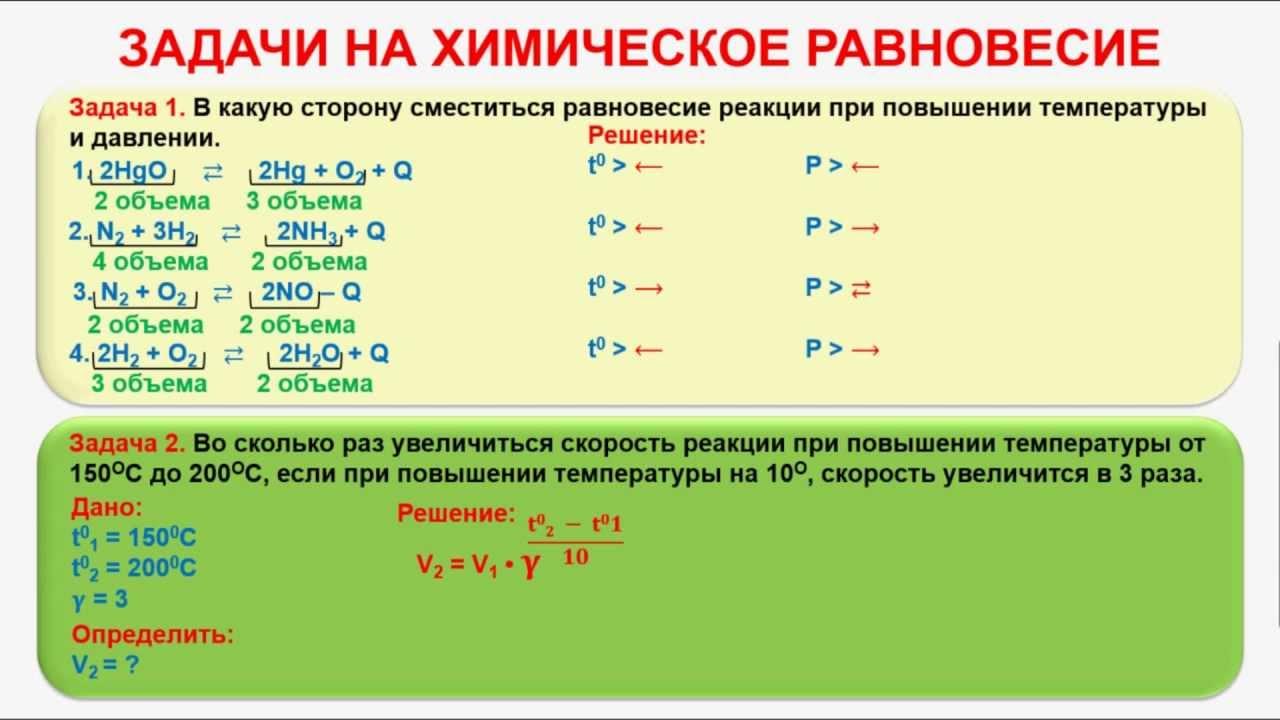 Химическое равновесие решение задач константа равновесия решение задач по логике таблица истинности