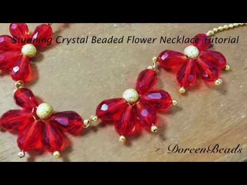 doreenbeads-jewelry-making-tutorial---how-to-diy-stunning-crystal-beaded-flower-necklace