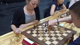 Black shuts down Catalan mighty bishop: Anton Zhukov - Elisabeth Pähtz, Blitz chess